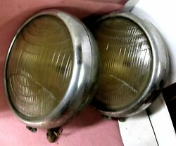 Pair 1931 Lincoln Headlamps Off A Large Series Lincoln Headlights