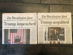 New Washington Post President Trump Impeached And Acquitted Newspaper [two]
