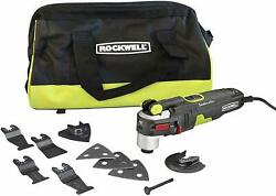 Rockwell Sonicrafter F80 4.2 Amp Oscillating Multi-tool W/ 9 Accessories And Bag