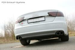 Duplex Sports Exhaust System From Kat Audi S8 4h Type D4 Per 0 3/32x3 17/32in