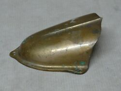 Antique Original Boat Nose Bow Plate Solid Brass 1900-40's Extra Nice Patina