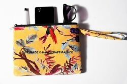 Indian Bird Print Velvet Bags Jewelry Wedding Party Gift Drawstring Pouches Bags $9.99
