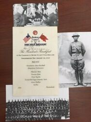 President Harry Truman Signed 2nd Inauguration Day With Wwi Comrades