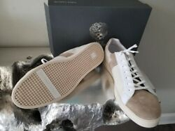 Vince Camuto Beige And White Leather -shoes Men Us Size 12 Very Attractive