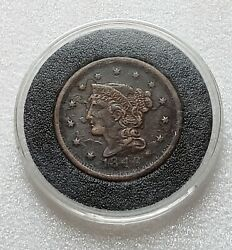 1848 Braided Hair Cent Historic Date Collector Coin Better Condition