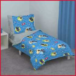 Disney Puppy Dog Pals 4 Pc Toddler Bed Set Blue/red/yellow/green