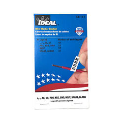 Ideal Electrical 44-111 Variety Legend Assortment Wire Marker Booklet