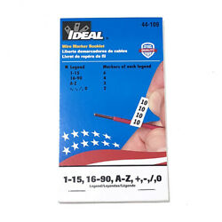 Ideal Electrical 44-109 Variety Legend Assortment Wire Marker Booklet