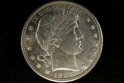 1907 D Barber Half Dollar Gem Uncirculated Almost Proof Like Surfaces