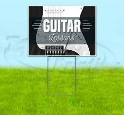 Guitar Lessons 18x24 Yard Sign With Stake Corrugated Bandit Usa Music Teaching