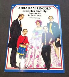 Vintage Abraham Lincoln And His Family Paper Doll Full Color Tom Tierney
