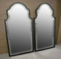 Pair Black Framed Beveled Mirrors By Pottery Barn 60