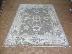 9and0392 X 11and0399 Hand Knotted Gray Oushak Ushak Oriental Rug Wool G6161