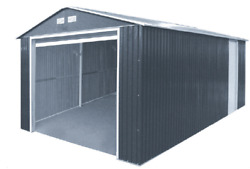 Duramax 54951 Metal Garage  6' Metal Storage Shed Extension - Dark Gray with ...