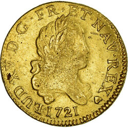 [980122] Coin France Louis Xv Louis Dand039or 1721 Strasbourg Ef Gold