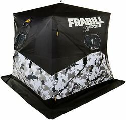 Frabill Bro Hub Top And Sides Insulated 3 Man Snow Camo Shelter Ice Fishing House