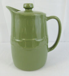 Longaberger Pottery Woven Traditions Sage Green Carafe With Lid