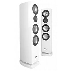 Canton Reference 7.2 Piano Blanc Paire Stand Hifi High End Neuf