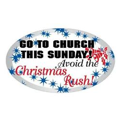 Go To Church This Sunday Bumper Sticker Bulk Pack Of 9