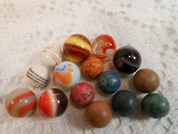 15 Collectable Marbles Vintage Old Marbles.