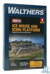 Walthers 933-3245 Ice House And Icing Platform Kit Overall N Scale Train