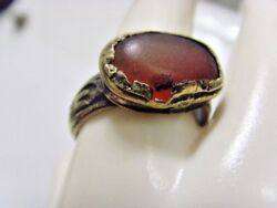 1600s Antique Bedouin Nomad Tribal Ring 11 Size Central Asia Religious 50228