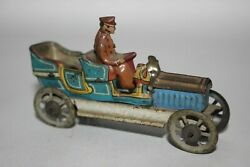 Antique Early Fischer Meier Penny Toy Cabriolet Open Tourer Tin Litho Toy