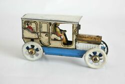 Antique Germany Fischer Distler Limousine Auto Car Tin Litho Toy Penny Toy