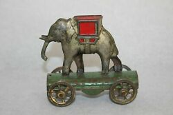 Antique 1910s Germany Elephant Tin Litho Penny Toy Meier Fischer