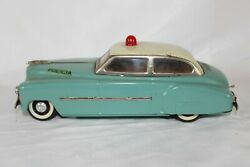 Antique Rico Spain Police Car 1940s Dodge Battery Operated Tin Litho Toy