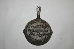 Antique Cast Iron Pan Cookware Mount Penn Reading Pa Stoves Ranges Advertising