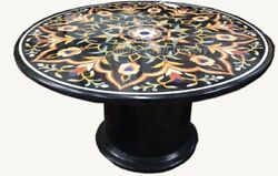 36 Marble Center Table Top Pietra Dura Semi Precious Stones With Marble Stand
