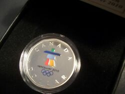 2010 Vancouver Olympics Loonie Silver Dollar Colour Color, Limited Mintage Unc