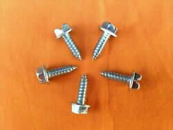 Car Dealer License Plate Screws Slotted Hex Head Self Tapping 3000 Per Box