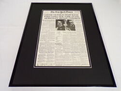 New York Times Nov 3 1976 Framed 16x20 Front Page Poster Jimmy Carter Elected