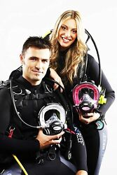 Ocean Reef Combo 2 Full Face Masks W/2nd Stage Regulators Comms And Extender Kit
