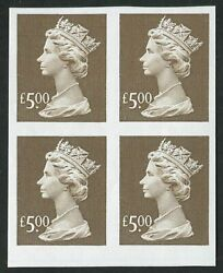 Sgy1803a 1999 £5 Brown Imperforate Block Of 4 U/m