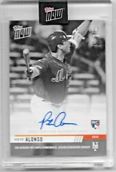 2019 Topps Now Platinum 639bw-a Pete Alonso Rc New York Mets Autograph 1/1
