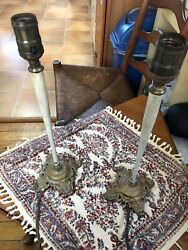 Antique Artistic Brass And Bz Works Inc Ny Lamps Art Deco Design Hubbell Socket