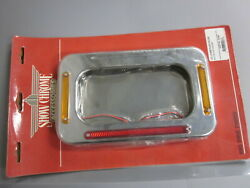 Nos Show Chrome License Plate Holder Fits 7x4 To 8 1/2 X 4 3/8 52-692
