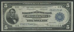 Fr784 5 1918 Frbn Philadelphia Choice Au+ Ext Rare Only 49 Recorded Wln233