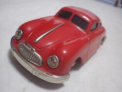 Gescha Sixmobil West Germany Red Porsche 356 Coupe Tinplate/wind-up 118