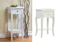 Sofa Table With Drawers For Small Spaces Accent Bed Nightstand Side End White