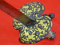 Fine Antique French Small / Court Sword Epee Gold Decorated Hilt 18 Cent. Dagger
