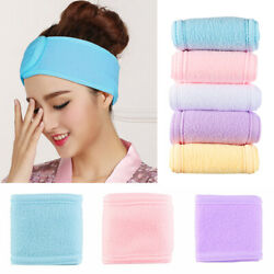Yoga Salon SPA Headwear Toweling Hair Wrap Makeup Head Band Adjustable Hairband