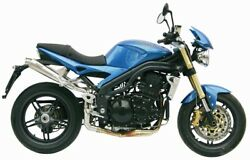 Mivv Exhaust For Triumph Speed Triple 2005 2006 X-cone Inox 2 Sil High