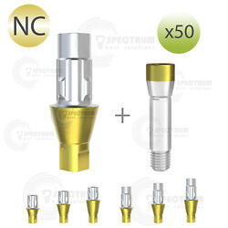 Lot X 50 Cad/cam Ti-base Straumann® Nc Variobase® For Crown Compatible
