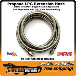 Propane Extension Hose For Most Bayou Classic Regulators And 3/8 Flare Fittings