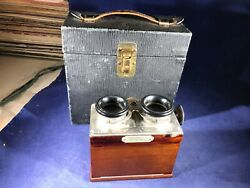 K1-89 Veracope Richard / Stereoscope With Case - France - 45x107 Mm3d - 1910