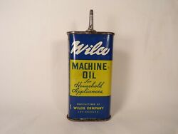 Vintage Lead Top Wilco Machine Oil Household Oil Can Handy Oiler Tin Can Rare